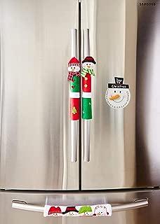 ienjoyware Snowman Kitchen Appliance Refrigerator Handle Door Covers & Snowman Advent Calendar - Christmas Decoration Idea