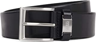 BOSS Mens Connio Leather belt with branded hardware keeper