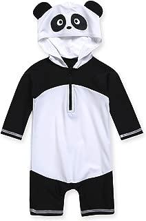 0-2T Infant Boys & Girls UPF 50+ Swimsuit Onepiece Rashguard Sunsuit with Quick Change Snaps Dino