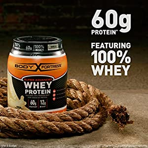 Body Fortress Super Advanced Whey Protein Powder, Gluten Free, Chocolate, 5 Lbs (Packaging May Vary)