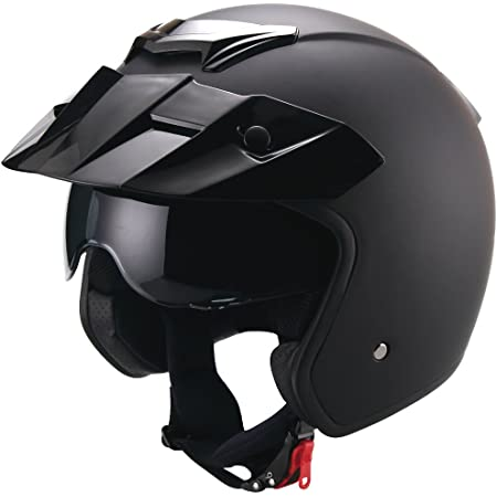 Rallox Jethelm P01 Retro Matt Schwarz Motorradhelm Größe L Sturzhelm Helm Rollerhelm Auto