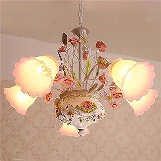 Color : Pink, Tamaño : Style-3 Lámpara de Techo Lámpara De Cerámica Retro De Una Sola Cabeza Lámpara De Techo Creativa De La Sala De Estar del Dormitorio De La Barra Lámpara Colgante Iluminación infantil Lámparas de pie