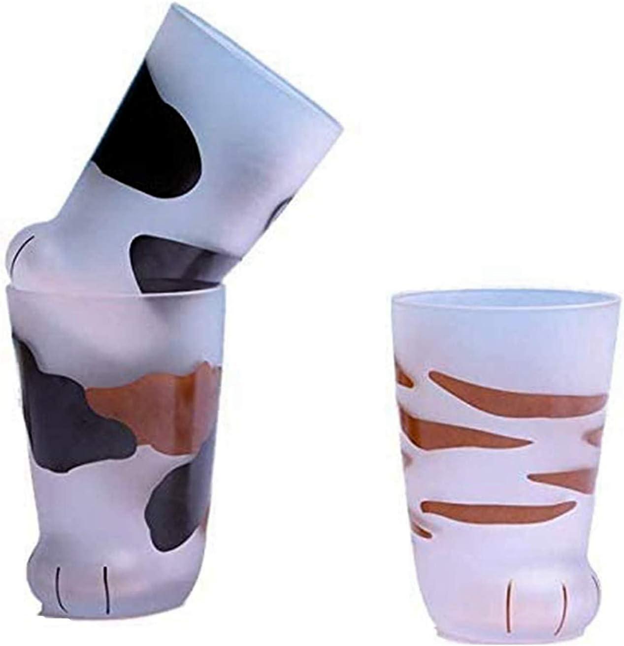 Whiskey Glass Cup Present Tassen Katzenpfote Fr/ühst/ückstasse 1 pcs QWEWQE 300 MlCat Paw Glass Tea Cups Milch Saft Heat resistent Handmade Milk Mug Valentines Gift f/ür Kaffee