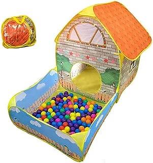 ハウスボール ボールプール ボールハウス カラーボール 収納袋付き 誕生日 プレゼント (pa092) [並行輸入品]