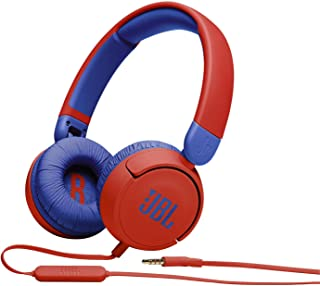 JBL JR310RED Kids wired on-ear headphones-Red, Small, JBLJR310RED