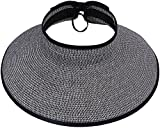 Simplicity Wide Brim Foldable Sun Hats for Women Roll-up Straw Sun...
