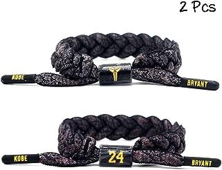 Basketball Team Star Wristband Hand Weave Adjustable Shoelace Bracelet 2 Pcs
