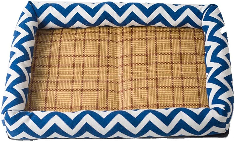 DSADDSD Pet Bed Kennel Summer Mat Sofa Sleeping Mat Biteresistant Wearresistant Cat Pad Pet Supplies (color   1 , Size   45cm40cm8cm)