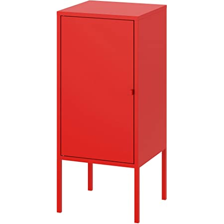 """Ikea LIXHULT Cabinet' Cabinet, Metal, red, 35x60 cm (13 3/4x23 5/8"""")"""
