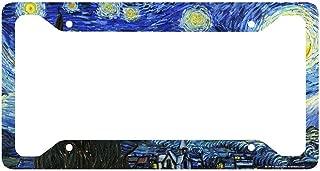Airstrike Starry Night License Plate Frame, Van Gogh Car Tag Frame, Starry Night License Plate Holder, Van Gogh Decorative License Plate Frame-30-701