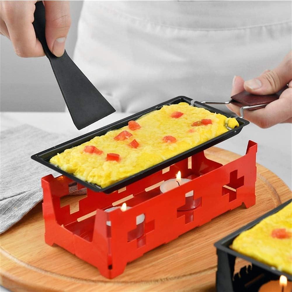LCLZ Fromage Grill Mini antiadhésifs Grill avec Candlestick Set Beurre Fromage Grill Pan 2 Couleurs (Couleur : Black) Black