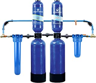 Aquasana Whole House Water Filter System w/ Salt-Free Conditioner- Filters Sediment & 97% Of Chlorine - Carbon & KDF Home Water Filtration - EQ-1000-AST
