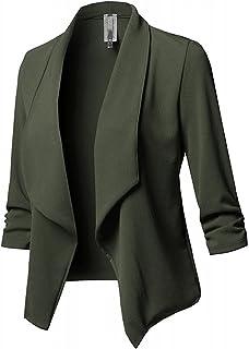 Yokbeer Woman Blazer Elegant Chic Suit Jacket Open Front Coat Top Clothing