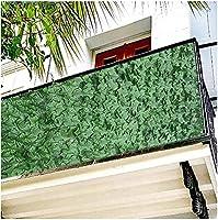 プライバシーガーデンフェンススクリーンプライバシーフェンス屋内屋外装飾プライバシースクリーン外観ガーデンプライバシーフェンスアイビーヘッジ人工アイビーフェンスポリエステルリーフプラスチック619(色:緑;サイズ:1。