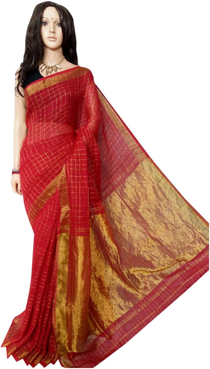 Linen by linen 80 count Saree Full weaving work by weavers traditional handoom Bengal Women sari Indian Ethnic Festive saree 108 2