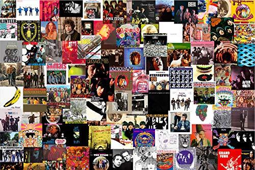 Great Rock Album Jigsaw Puzzle para adultos y niños Juego de rompecabezas, Juego de rompecabezas de crecimiento para niños Rompecabezas HD Decoración (Puzzle de 500 piezas)