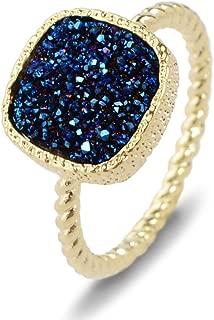 Best blue drusy quartz jewelry Reviews