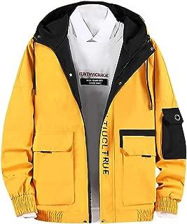 Cargo College Jacket Men's Hooded Sweat Baseball Jacket Bomber Softshell Flight Jacket Coat Hoodie Outwear