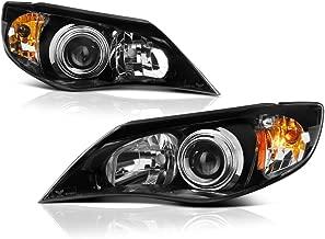 VIPMOTOZ Black Housing OE-Style Projector Headlight Headlamp Assembly For 2008-2014 Subaru Impreza & WRX Halogen Model, Driver & Passenger Side