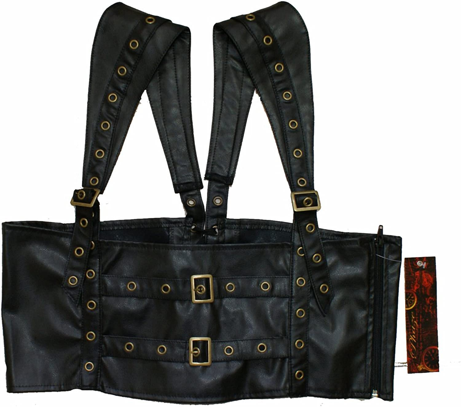 Faux Leather STEAMPUNK CORSET BUCKLE HARNESS