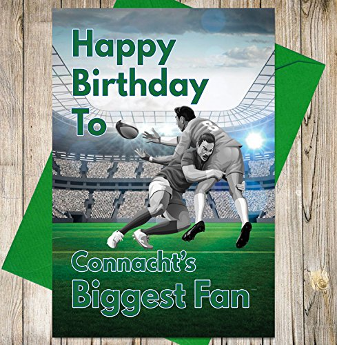 Rugby Geburtstagskarte–Connacht 's Biggest Fan