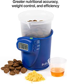 PetFusion Digital Food Scale & Scoop for Dry Dog Food & Cat Food (1, 2 Cup Versions). [Precision Measurement for Better Nutrition, Weight Control, Savings]. 1 Year Warranty for Manufacturer Defects