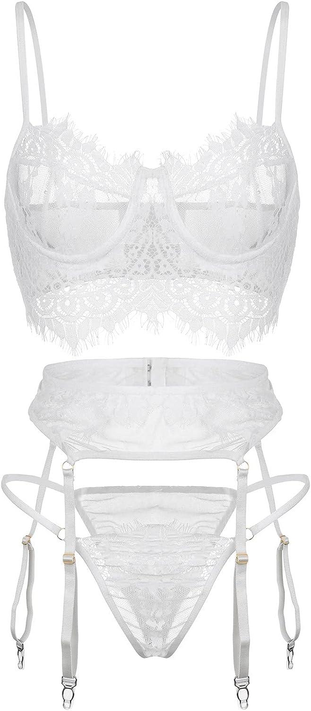 xoxing Women's Lingerie Plus Size Sleepwear Intimates Sexy Underwear Pajamas Nightwear Tank Tops Chemise Halter (L)