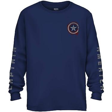 Marvel Avengers Captain America Shield Avengers Long Sleeve Adult T-Shirt