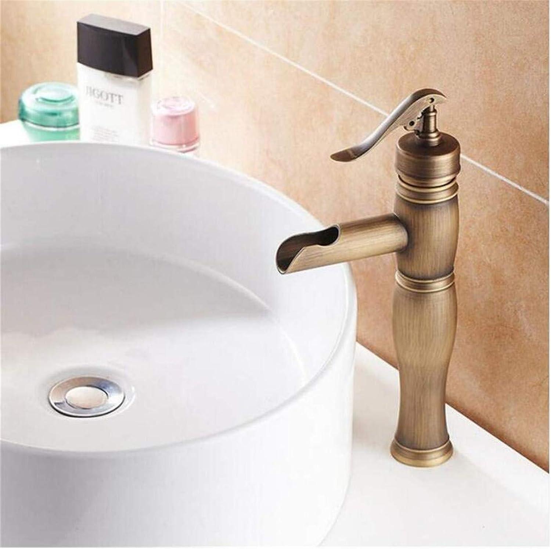 Retro Kitchen Bathroom Chrome Basin Faucet Single Handle Wash Basin Taps Tall Lavatory Faucet Shower Tap