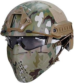 PHOENIX IKKI 2WAY FASTヘルメットに装着 3バンド式 安定 曇らない 通気性良 男女兼用 タクティカル タクティカルギア フェイスガード サバゲー装備