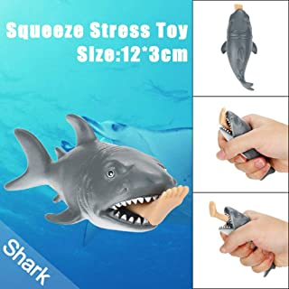 Baomabao 12cm Funny Toy Shark Squeeze Stress Ball Alternative Humorous Light Hearted New