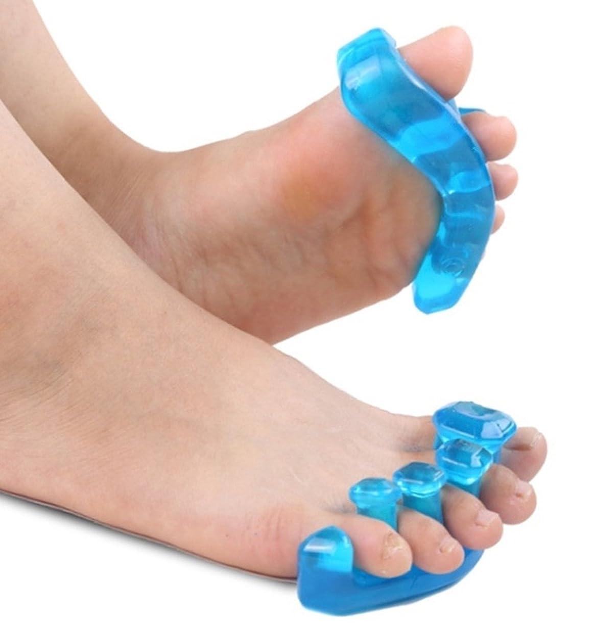 盆地以上ホバー足指パッド セパレーター 矯正 外反母趾 サポーター 5本指 足指 広げる ジェル シリコン S M L