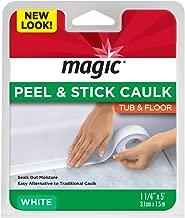 Magic American Magic Tub/Floor Peel and Stick Caulk, 1-1/4