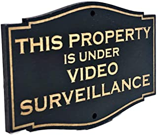 PLS Market This Property is Under Video Surveillance Rustic Wooden Sign (4 x 6)