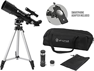 Zhumell Z60 Portable Refractor w Tripod, Phone Adapter & Carry Bag, Black