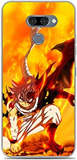 X-Art Clear Case for LG K50, Fairy-Tail Fire-Logo Manga-Dragon 2 Transparent Fundas Slim Liquid Case Cover