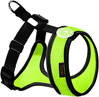 Gooby - Freedom Harness II, Choke Free Mesh Harness for Small Dogs with Microsuede Straps, Lime, Small