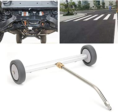 Under Carriage Power Washer, Water Broom Cleaner, Undercarriage Cleaner, 1/4 Quick Plug Fan-Shaped 4000PSI for Pressure Washe