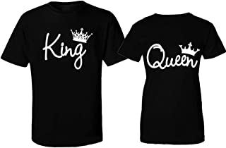 Matching Couple Shirts Fashion Crowns T-Shirts Black | His and Hers t-Shirts