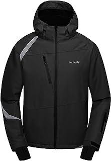 BALEAF Men's Ski Snow Jacket Windproof Waterproof Winter Coat Fleece Lined Snownorad Jacket with Utility Zipper Pockets