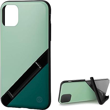 カンピーノ campino iPhone 11 Pro ケース OLE stand スタンド機能 耐衝撃 スリム 動画 Qi ワイヤレス充電対応 ペール グリーン × フォレスト グリーン Bi-Color 緑