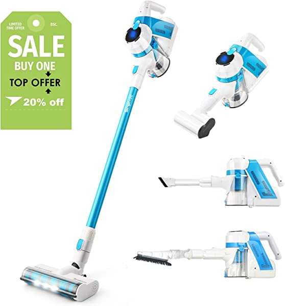 SIMPFREE Cordless Vacuum Cleaner 22Kpa Strong Suction 5 In 1 Lightweight Vacuum Handheld Vacuum With Brushless Motor Multi Attachments Rechargeable Lithium Ion Battery Powerful Deep Cleaning