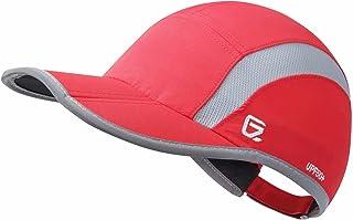 GADIEMKENSD UV Cap Hats Running Quick Drying Sports Hat Reflective Foldable Running Cap Baseball Cap Outdoor 40+ UPF Mesh ...