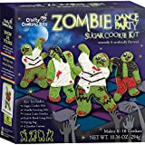 Zombie Dance Party Sugar Cookie Kit - Crafty Cooking Kits - Halloween Baking Kit - Includes Sugar Cookie Mix, Vanilla Frosting Mix, Green Color Powder, Icing Pens, Zombie Cutters, and Piping Bag