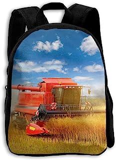 Kids School Backpack Tractor Boys Girls Bag