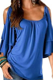 big sale 18813 69f81 Amazon.it: Blu - Bluse e camicie / T-shirt, top e bluse ...
