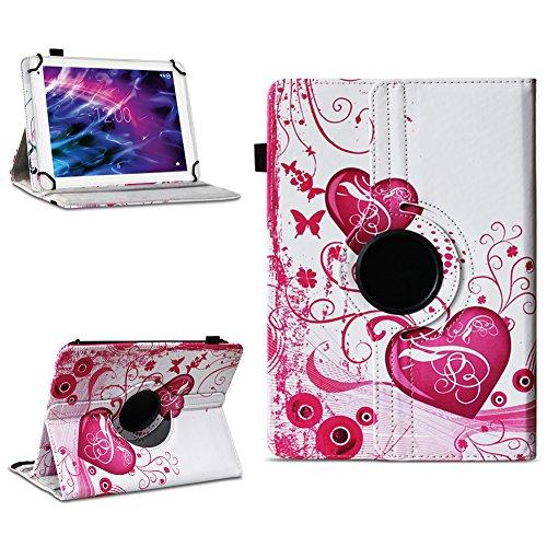 Tablet Schutzhülle für Medion E6912 aus hochwertigem Kunstleder Hülle Tasche Standfunktion 360° Drehbar kombiniert Schutz & Design in verschiedenen Farben Cover Case Universal , Farben:Motiv 5
