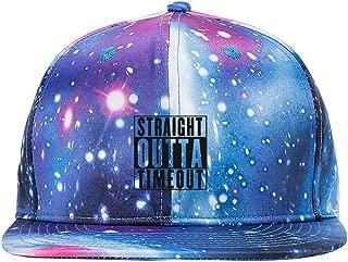 Straight Outta Timeout Purple Galaxy Snapback Hat Unisex Trucker Hat Hip Hop Plaid Flat Adjustable Baseball Cap