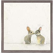 GreenBox Art + Culture Baby Bunnies by Cathy Walters 6 x 6 Mini Framed Canvas