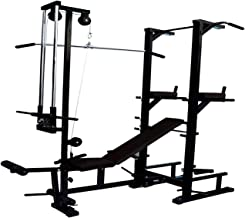 Madhrun Abs Tower with Push up DIPS and Workout with 20 in 1 Bench (Multicolour)